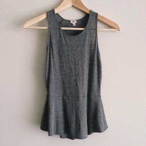 Wilfred Flowy Gray Tank with Peplum